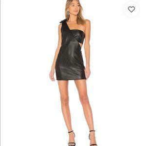 NWT Endless Rose x Revolve Vegan Leather Dress S
